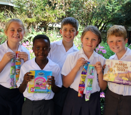 Grade 4 Pupils with Easter Eggs 002