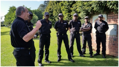 Members of the WTSU being debrief prior to deployment