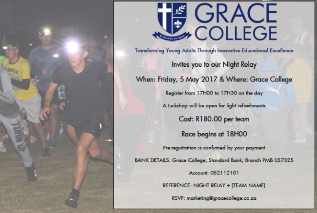 night relay3 grace college