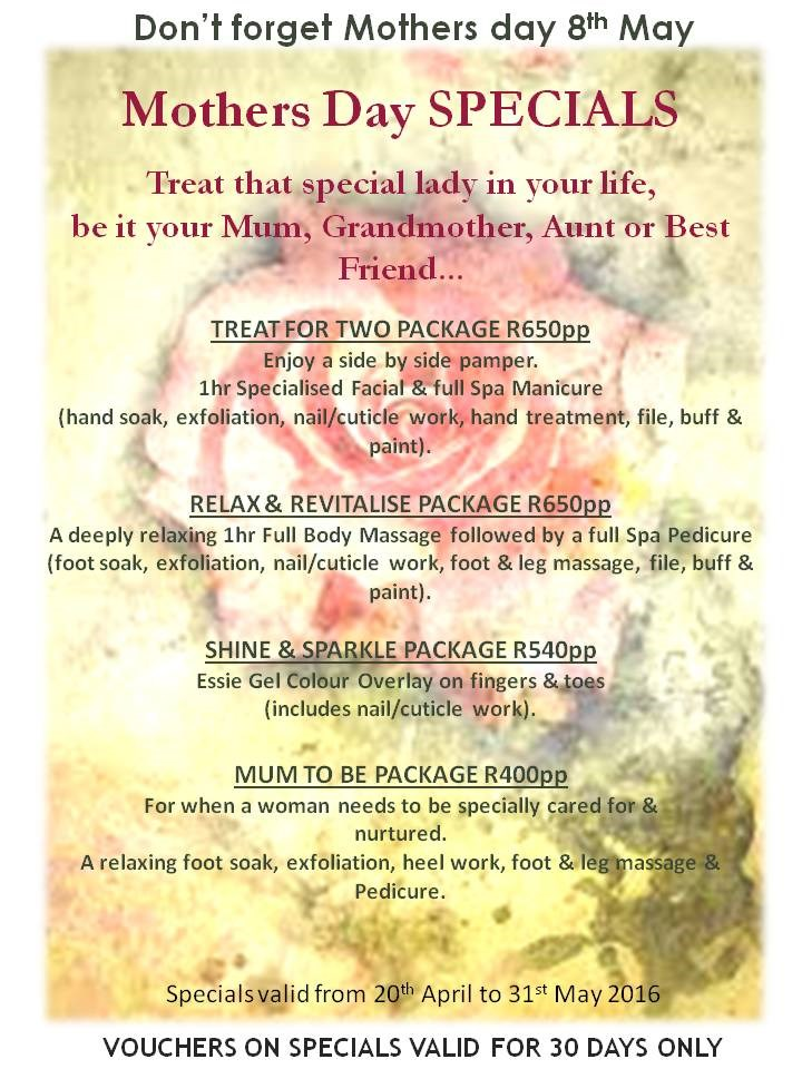 Mothers Day Spa Specials